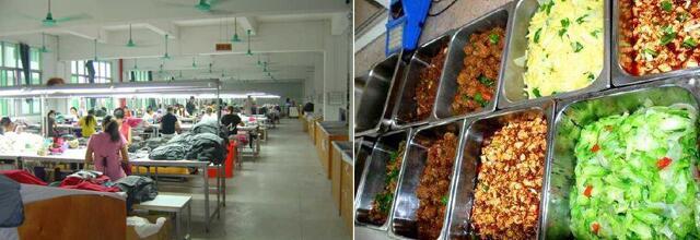 广州迎丰服装厂500人食堂承包案例